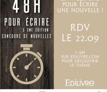 «48 heures pour écrire» : Un concours de nouvelles ouvert à tous