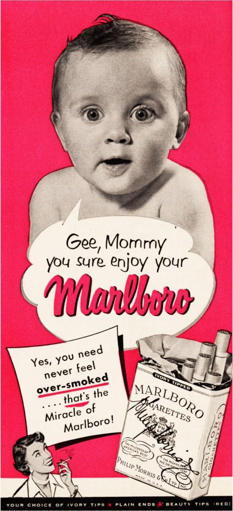 """"""" Avec Malboro cigarette vous ne sentirez jamais plus la fumée"""""""