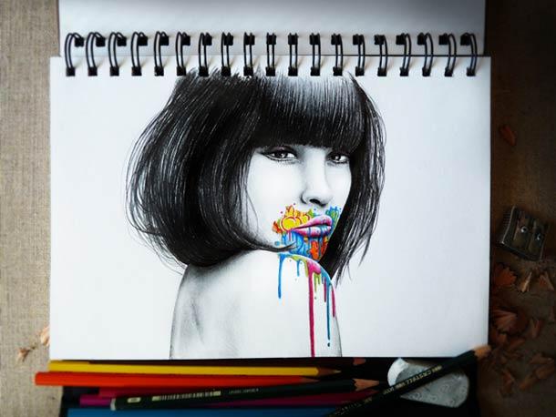 Femme visage by PEZ