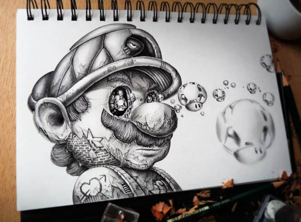 Mario - Jumpman by PEZ