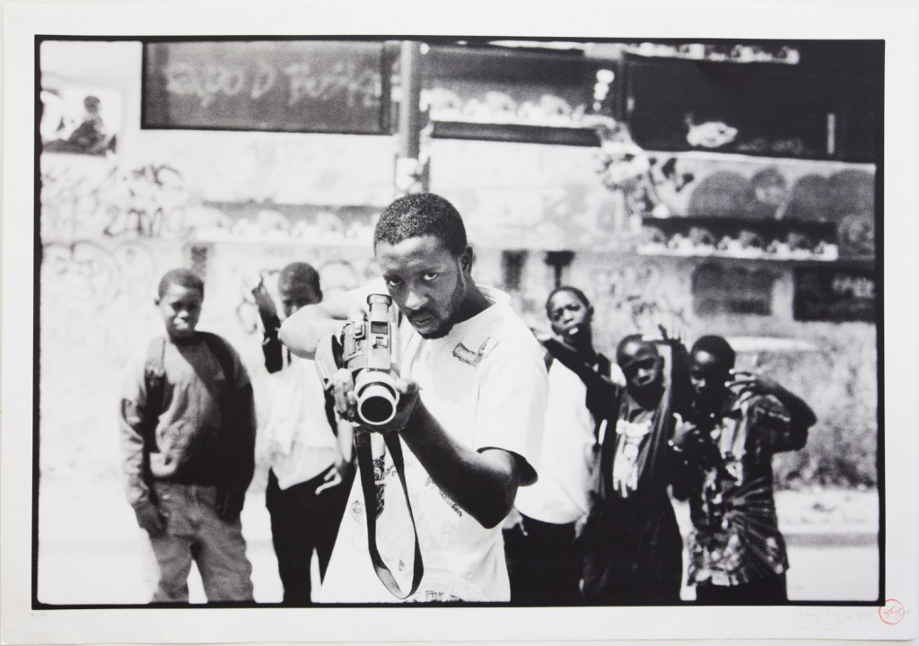 """Photo de jeunes par JR lors du projet """"portrait d'une génération"""""""