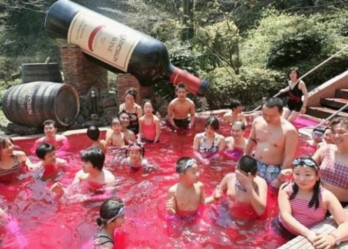 bain de vin en chine