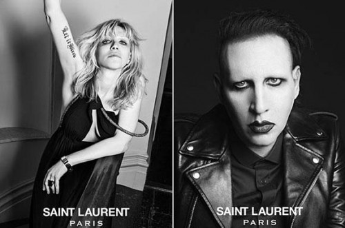 Courtney Love et Marylin Monson pour YSL (luxe-trash)