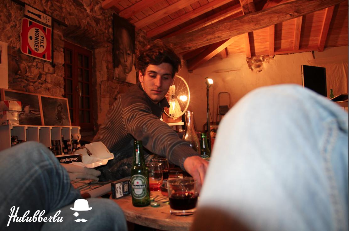 Une bière avec Etienne Cail peinture
