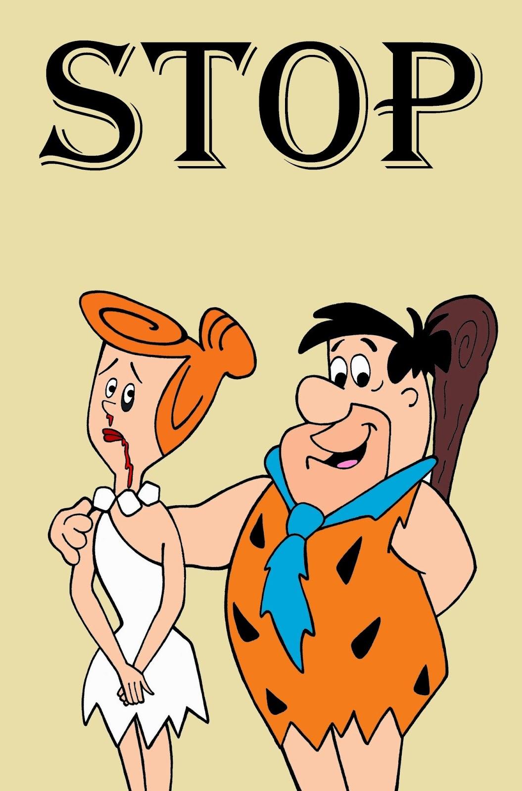 Barney Rubble et Wilma-Flinstone (aka la famille Pierrafeu)