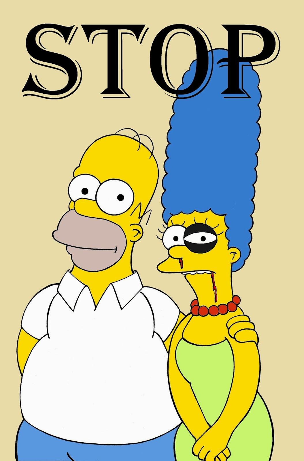 Marge et Homer Simpson