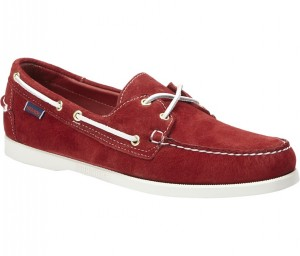 DOCKSIDES RED SUEDE