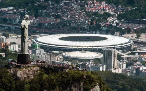 Le mythique stade du Maracana qui a été entièrement rénové pour accuillir la Coupe du Monde.