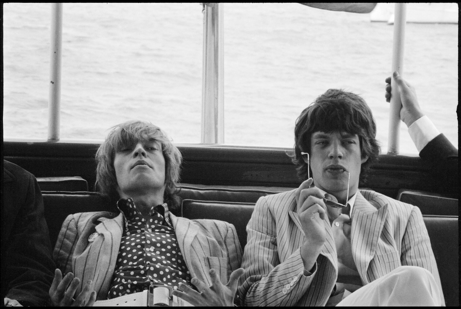 Brian Jones et Mick Jagger (New York, 1966)