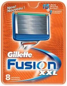 rasage gilette fusion xxl