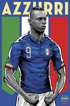 Balotelli et l'Italie