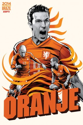 Van Persi, Roben, et Sneijder pour les Pays-Bas