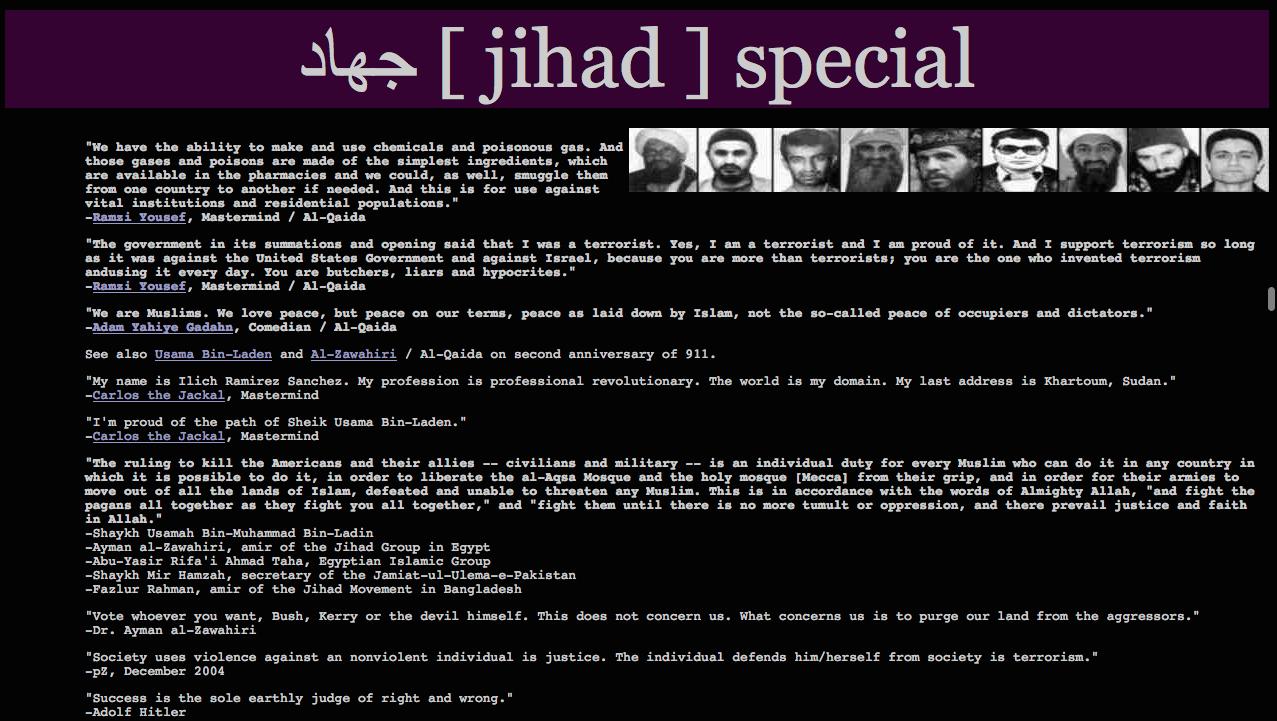 Jihad deep Web
