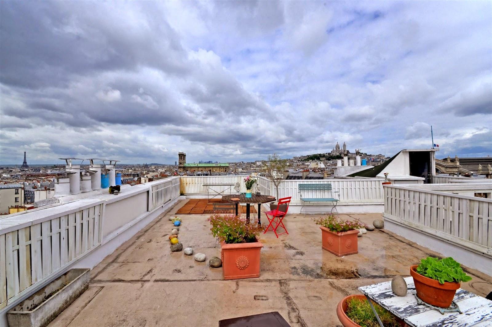Un rooftop à Montmatre