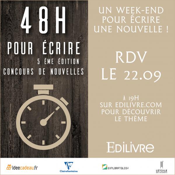 """""""48 heures pour écrire"""" : Un concours de nouvelles ouvert à tous"""