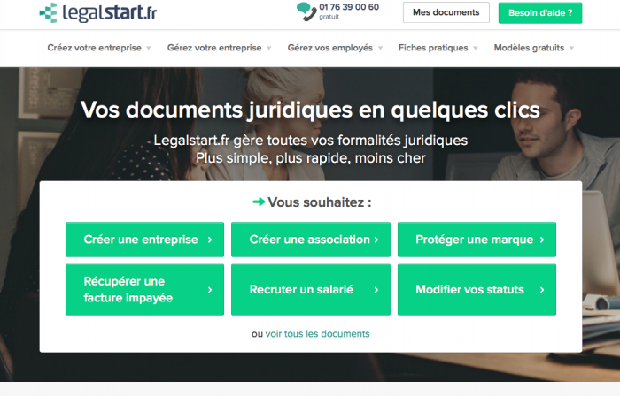 legalstart creation societe en ligne