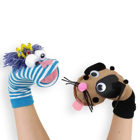 faire une marionnette avec une chaussette